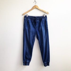 MOTHER : Drawstring Crop Trainer Jeans 25